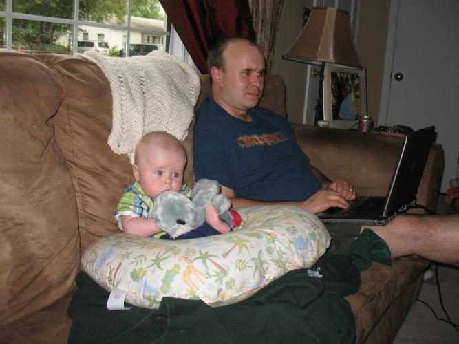 Austin and Daddy - two TV junkies